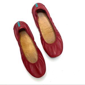 Tieks Cardinal Red Leather Flats